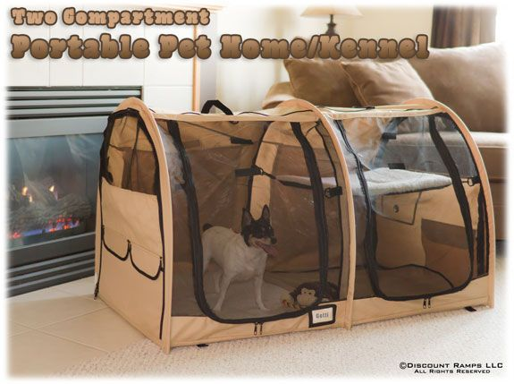 portable dog kennel and pet home.  This is nice to keep in the closet for evacuations...perfect for hotels.
