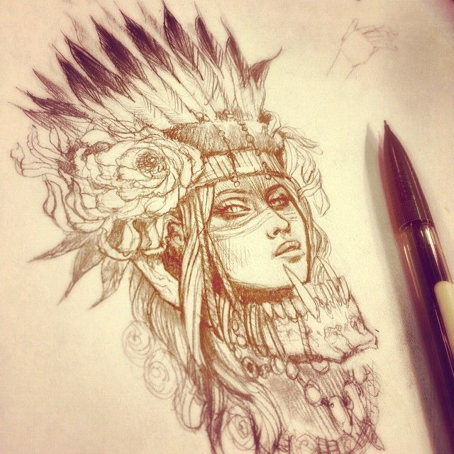 Best 25 indian headdress tattoo ideas on pinterest headdress indian with wolf headdress wolves gotta eat another custom indian jam coming up ccuart Images