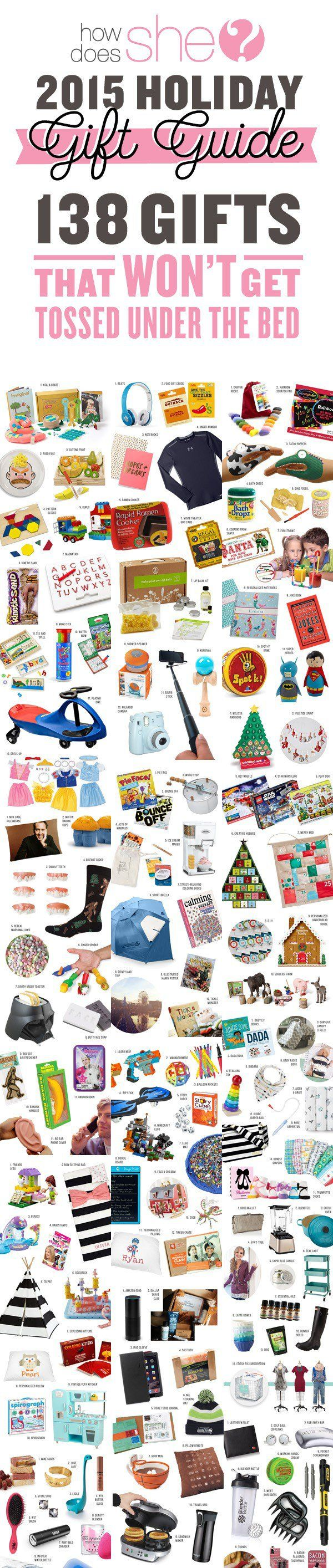 Great Deals. 138 Gifts That Won't Get Tossed Under the Bed – The Ultimate Gifts for Everyone on Your List!