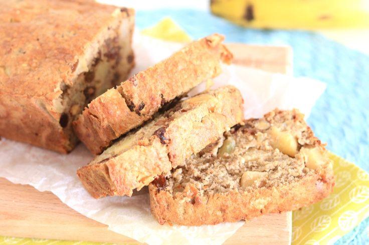 Bananenbrood met appel - Chickslovefood.com