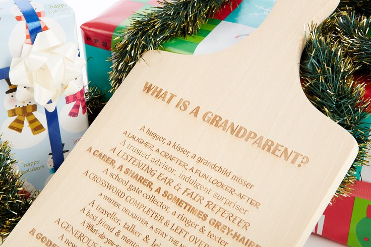 What is a Grandparent? Laser Engaved Beech Wood Chopping Board / Lovely Poem / Personalised by ShopReddish on Etsy