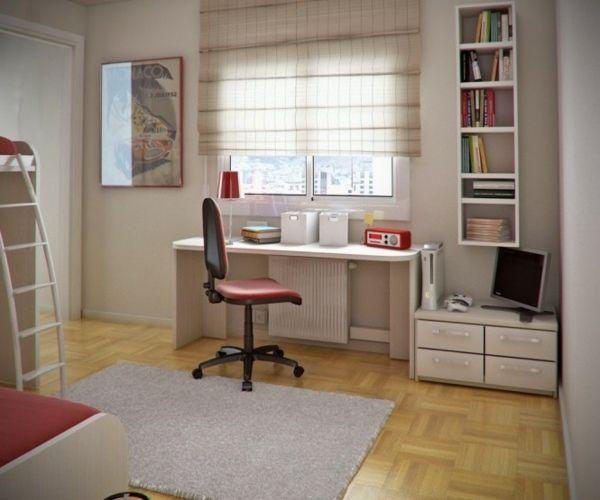 chambre ado avec bureau de design simple - Lamp Bureau Ado
