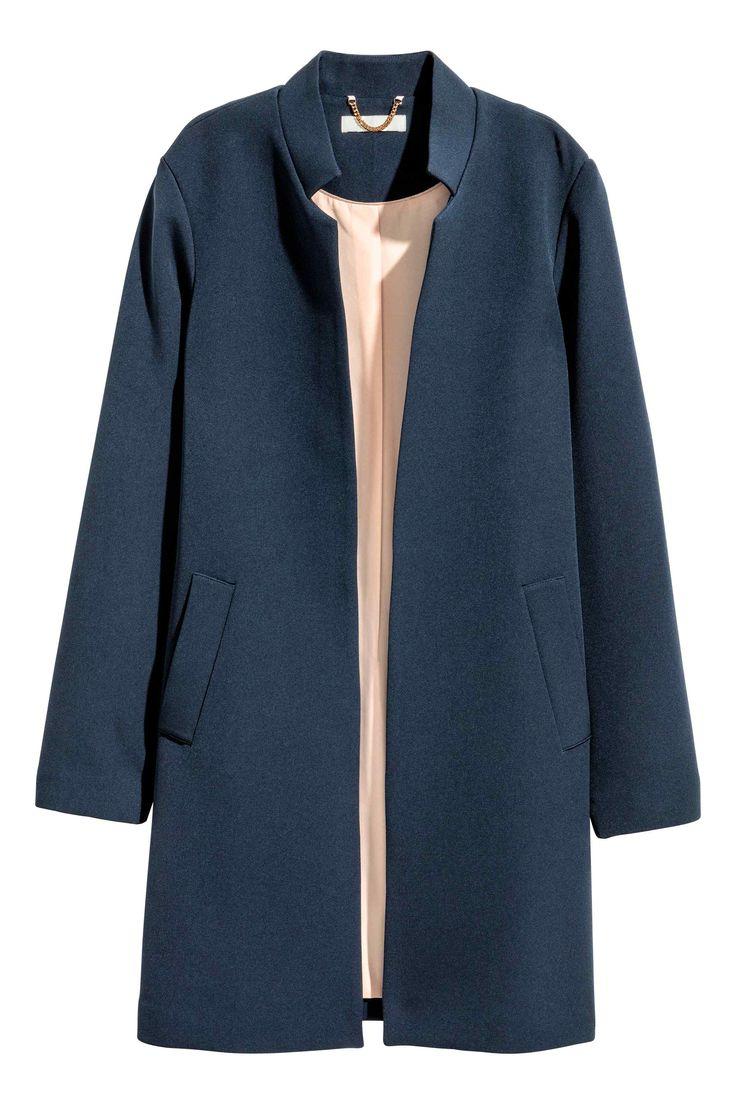 Abrigo corto - Azul oscuro - MUJER | H&M ES