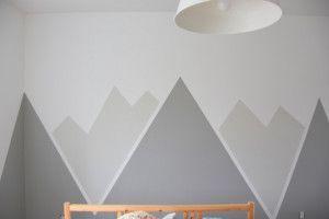 Suchen Sie nach einer erstaunlichen Kinderzimmer- oder Kinderzimmerdekor-Idee? DIY diese gemalten Berge …  #diese #einer #erstaunlichen #gemalten