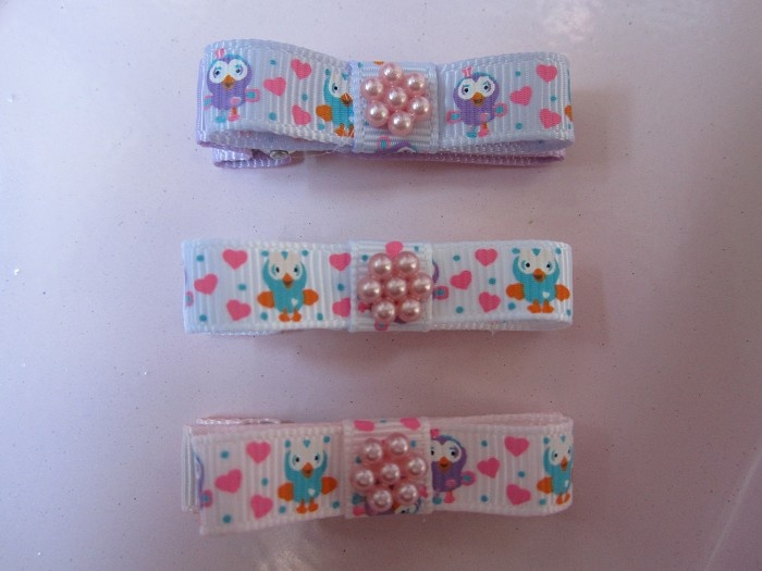 Baby / Girl Hair Clips ~ Trio set of Hoot and Hootabelle Clips - by babydragondesigns on madeit