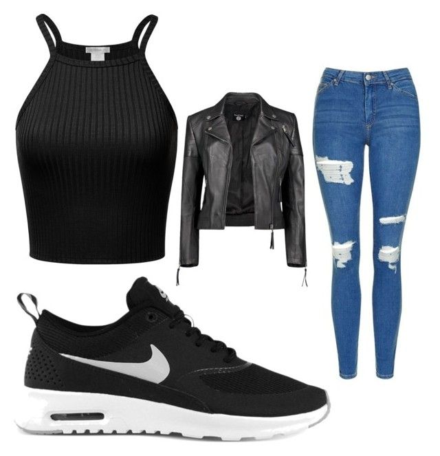 """Untitled #42"" by ionescu-alexandra25 on Polyvore featuring Topshop, NIKE and Boohoo"