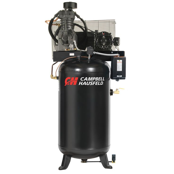The Campbell Hausfeld 80-gallon, 5 hp, vertical, fully packaged air compressor (CE7051FP) is an ideal choice for tire and lube shops with its ability to power multiple air tools. Find it at campbellhausfeld.com. #CampbellHausfeld