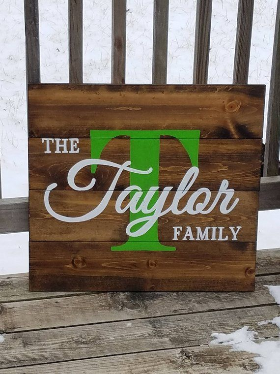 43a61c44da5d4 Personalized Family Name Sign Last Name Sign Large Wooden | Etsy ...