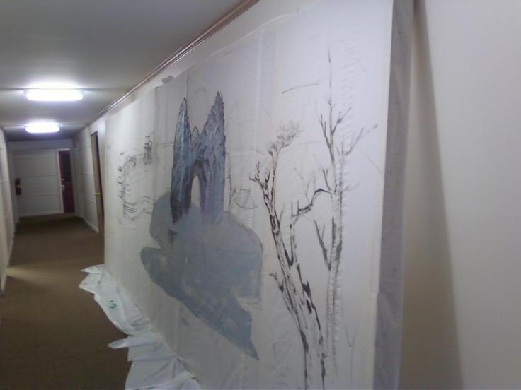 Canvas Drop Cloth Mural Canvas Drop Cloth Pinterest