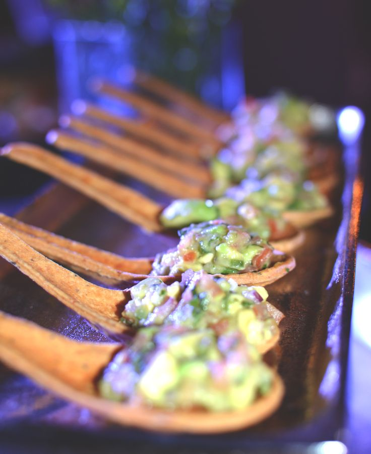 Avocado Ceviche Edible Wonton Spoon Unique Wedding Amp Event Appetizer Ideas Catering Food