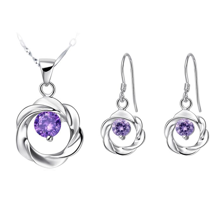 Find More Jewelry Sets Information about White Crystal Sterling Silver Jewelry Sets Created Diamonds Necklace Set Joyas Purple Earrings for Women Conjuntos Ulove T030,High Quality earrings bat,China earring bails Suppliers, Cheap earring discs from ULOVE Fashion Jewelry on Aliexpress.com