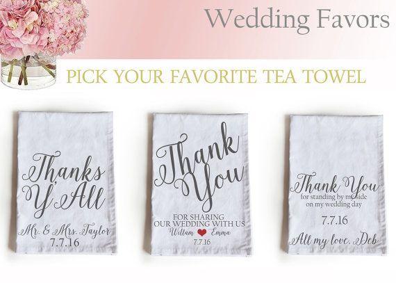17 Best ideas about Wedding Favour Tea Towels on Pinterest | Alice ...