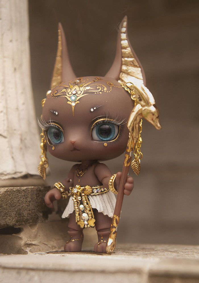 BJD 1/12 Anubis ( Free style face make up no tattoos on the forehead) . The  order includesa doll with face make-up, acrylic eyes (random color) and a  clean ...