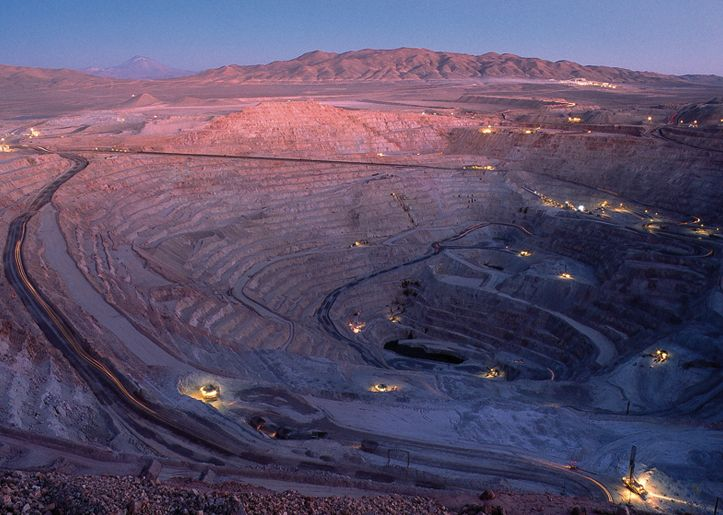 Escondida mine is the world's largest copper producer located in Northern Chile