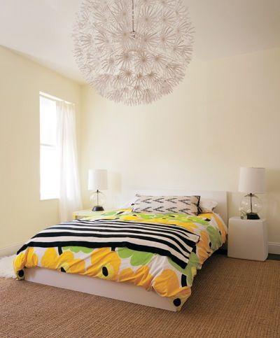 Simple Marimekko Bedroom designed by Lisa Kreilling