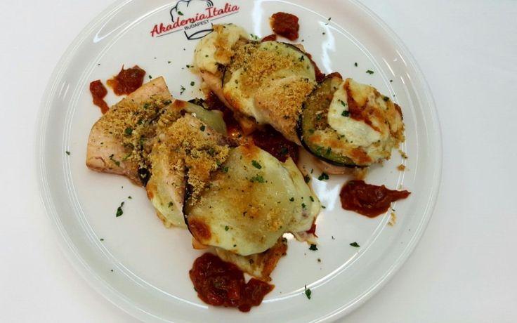 Tagliata di pesce spada con melanzane, pecorino siciliano al pepe e marmellata di pomodori
