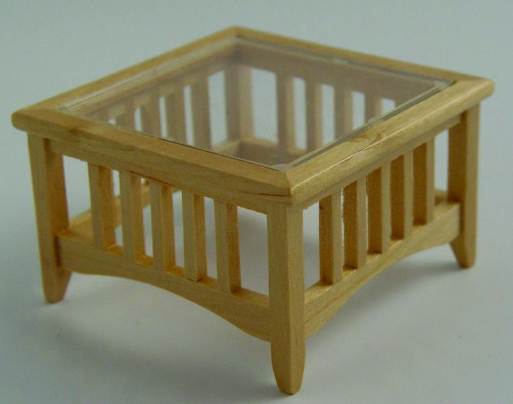 12th Scale Dolls House Glass Topped Coffee Table Df880 | Hobbies | Streets  Ahead