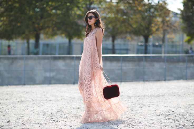 "The Best ""What IS She Wearing?"" Looks From Paris #refinery29 http://www.refinery29.com/2015/10/95202/paris-fashion-week-spring-2016-street-style-pictures#slide-5 The closest thing to a real-life princess dress....:"