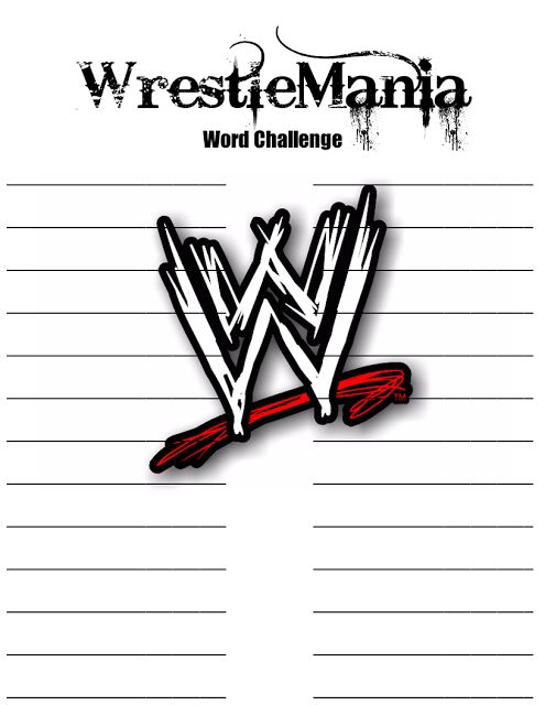 Free Printable Wrestlemania Word Challenge From Piggy In