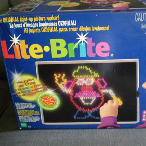 Here's What 23 Of Your Childhood Toys Look Like Now.  Lite Brite is now Lite Brite with an LED Flat Screen. Kids.