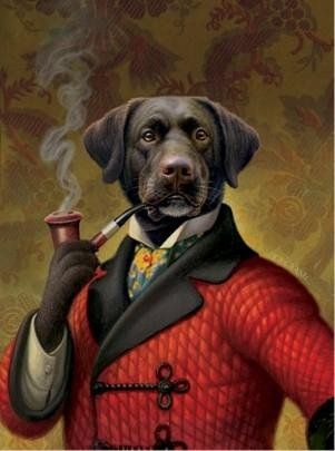 I'm adding this semi-jokingly but I say semi-seriously that Mary would look good in a smoking jacket, with a pipe.