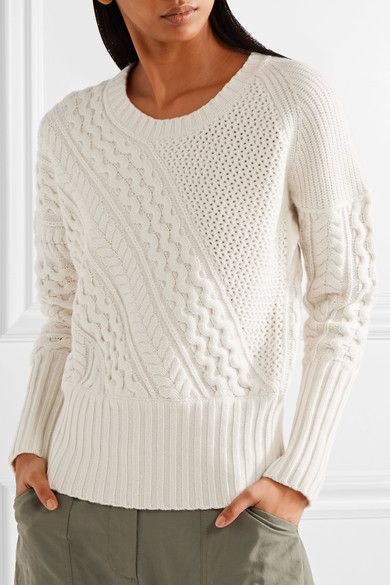 Burberry - Cable-knit Wool And Cashmere-blend Sweater - Cream - x large