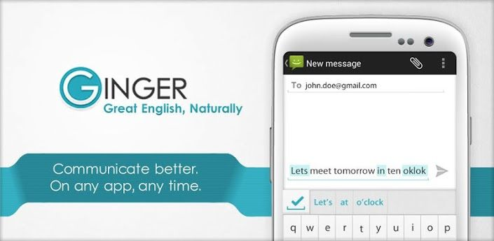 تحميل برنامج تصحيح الاخطاء الاملائية العربية مجانا يستخدم برنامج تصحيح الاخطاء الاملائية Ginger في العديد من الشركات و المؤسسات Ginger App App Keyboard Typing