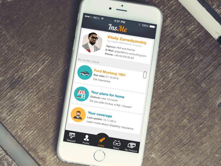 InsMe by Vitaliy Zamedyanskiy #dribbble #interface #ui #ux #mobile #ios
