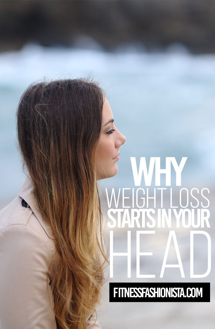Why Weight Loss Starts in Your Head - Many think that when it comes to losing weight its just about eating right and working out but truly our mindset can affect any thing we set out to accomplish.