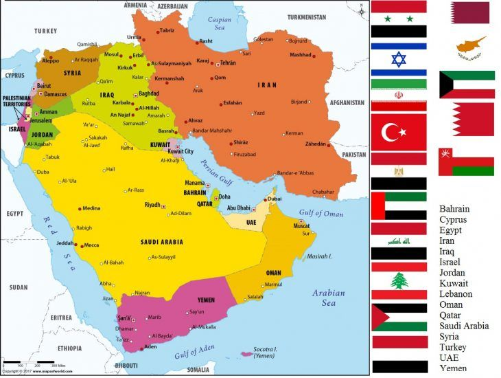 Middle East Map Study