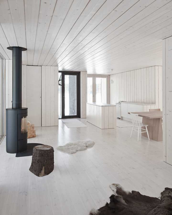 Four-cornered villa, Finland : Virrat Building    Contemporary Finnish House - design by Avanto ArchitectsCabin, Floors, Rustic Interiors, Interiors Design, Cottages Style Decor, Villas, House, White Interiors, Avanto Architects