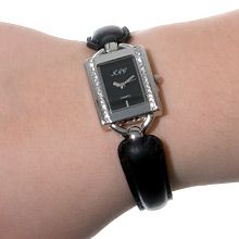 """Urban Sport Description    A superb Japanese movement placed in a stainless steel case, studded with Swarovski clear crystal turns quality into glamour with its fine leather strap, featuring a fashionable Greek design chain with a sturdy fold-over clasp.  """"Urban Sport"""" – designed for the woman who lives life to the fullest wherever she chooses to go.  Nickel and lead free £46"""