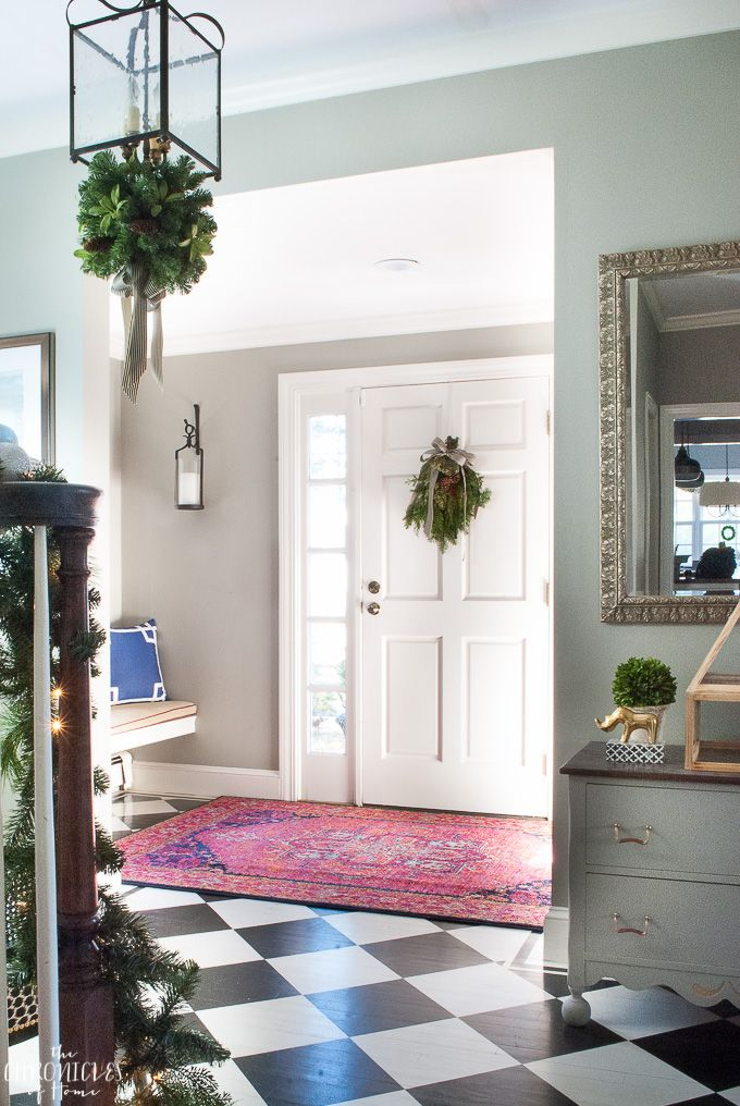 Foyer Rug Winter : Ideas about christmas entryway on pinterest xmas