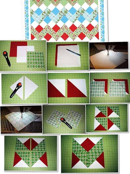 """Varrjunk cikkcakk mintát! (Translation """"______ zig zag pattern"""") from Szines Foltok-patchwork"""