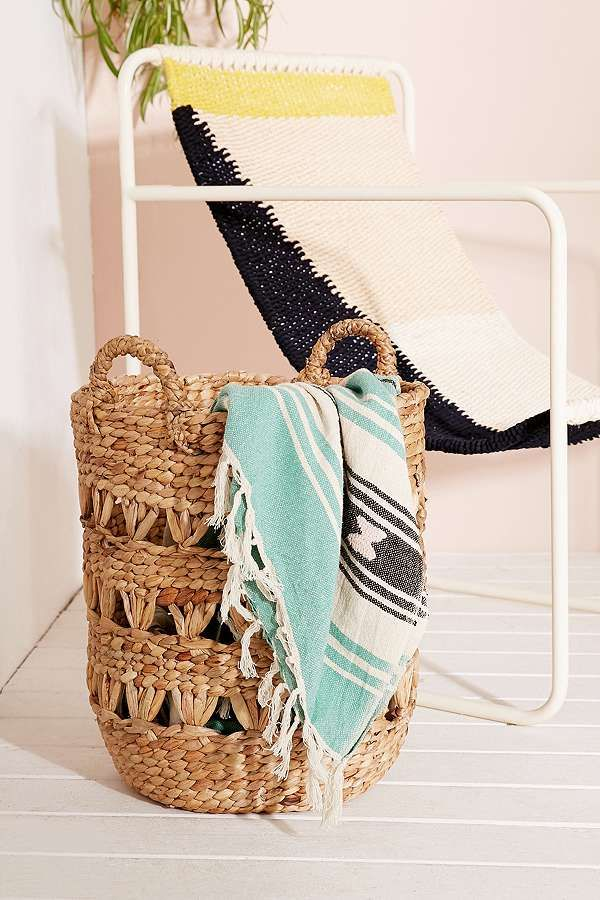 Slide View: 1: Lucy Woven Laundry Basket