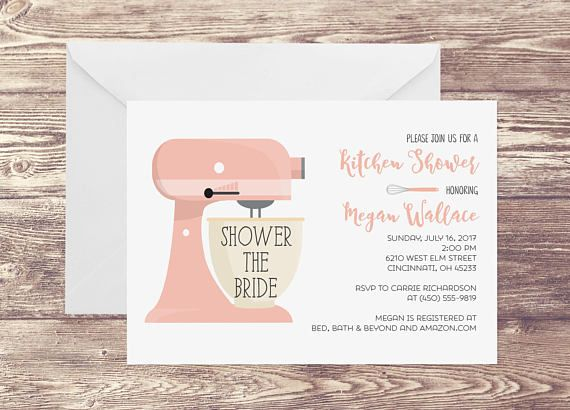 Printed Kitchen Bridal Shower Invitation, Kitchen Shower Invitation For  Bridal Shower, Shower Invitation With Part 67