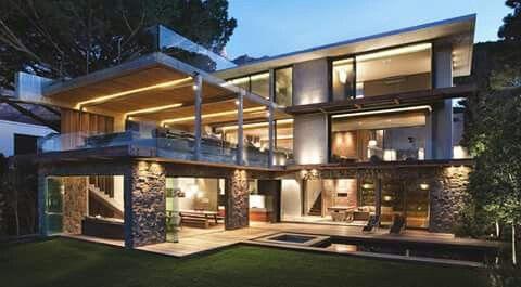 Moderne Häuser, Coole Häuser, Moderne Pools, Vertikale Gärten, Grüner  Pudding, Gärten, Moderne Architektur, Offenes Planhaus, Haus Design