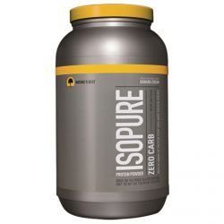 Nature's Best, Iso Pure, Isopure Protein Powder, Zero Carb, Banana Cream, 3 Lbs (1361 G), Diet Suplements 蛇