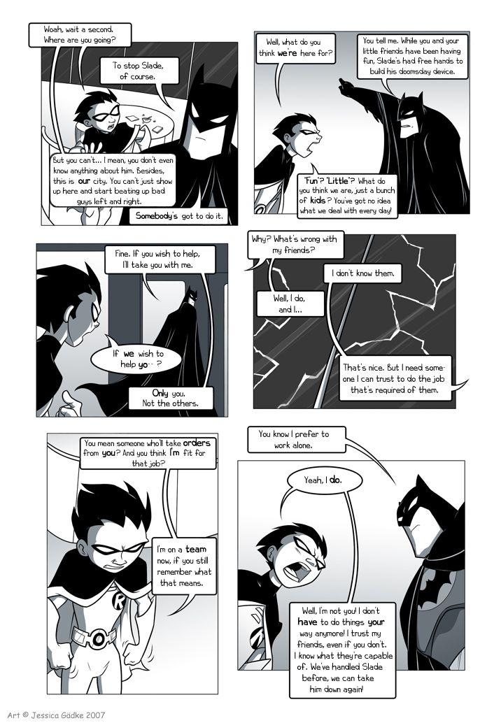 Teen Titans Comic, Page 14  First Page  Re Batman -8153