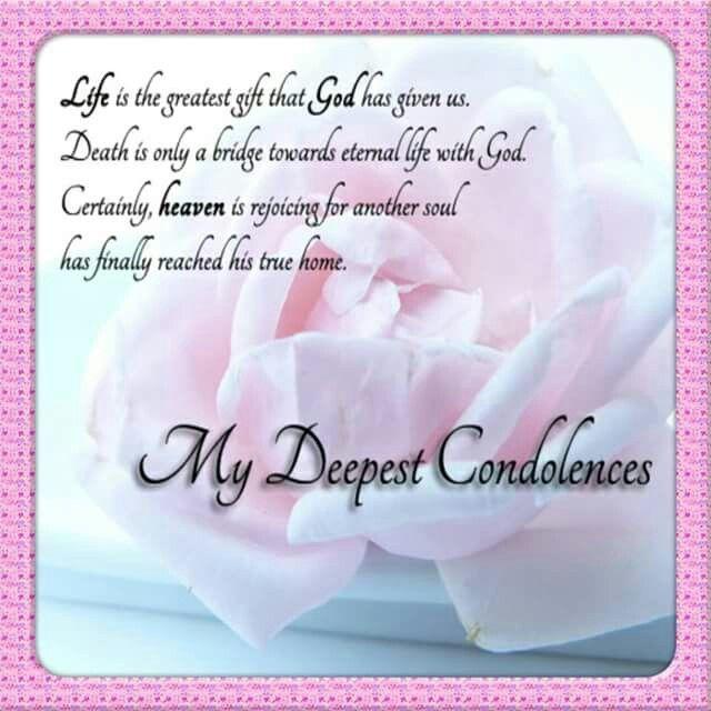 Words Of Sympathy New World: My Deepest Condolences
