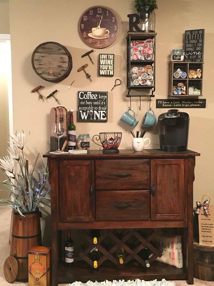25 diy coffee bar ideas for your home stunning pictures - Home Wine Bar Design Ideas