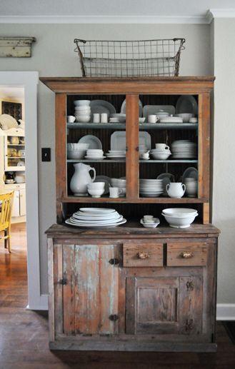 antique cupboard via Heather Bullard
