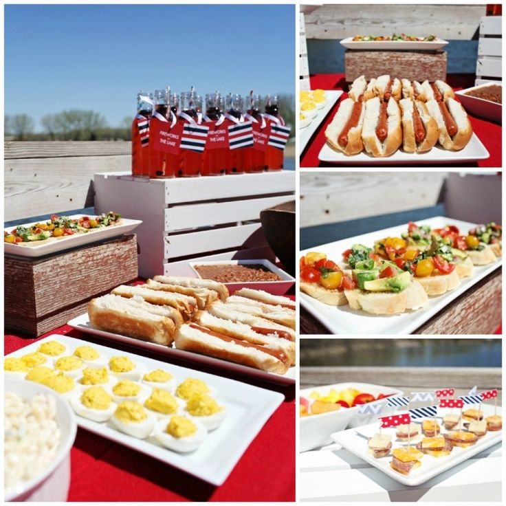 4th of July Ideas: Picnic by the Lake. Delicious food for friends to enjoy! #4thofJuly