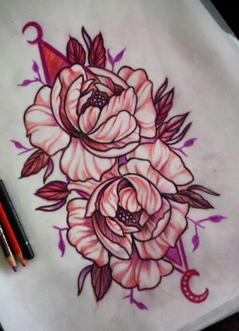 17 best images about flowers tattoo on pinterest tattoo for Neo traditional rose tattoo