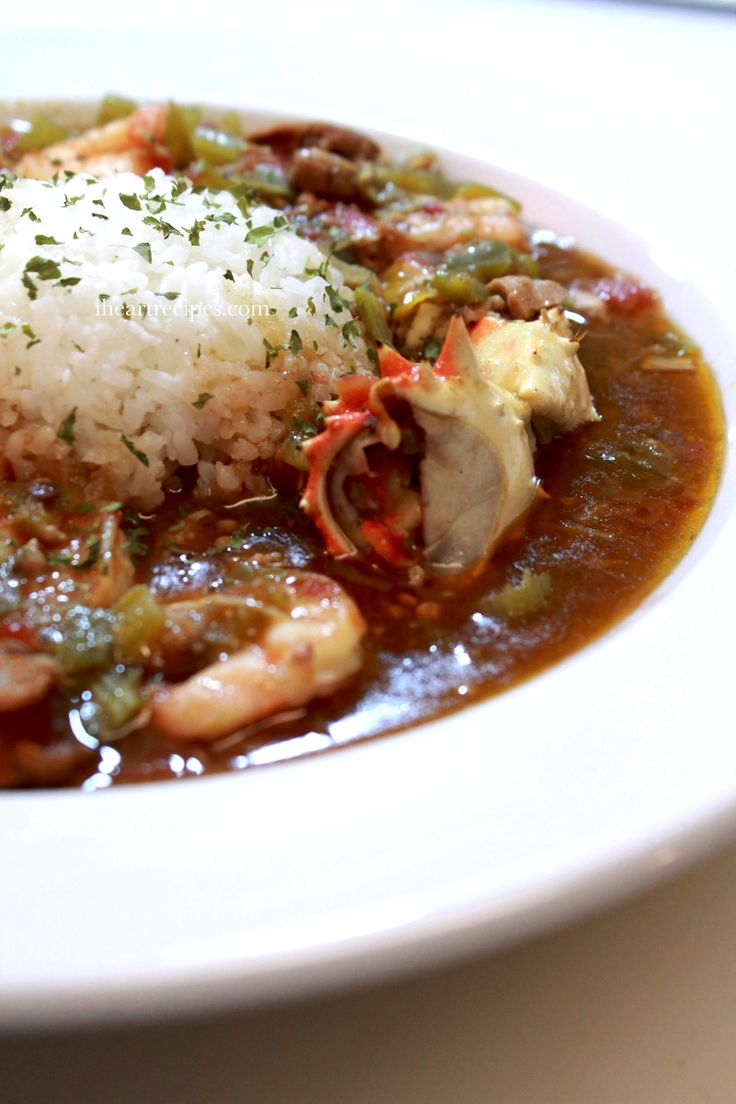 Louisiana style gumbo with crab, shrimp, chicken, andouille sausage, and more!