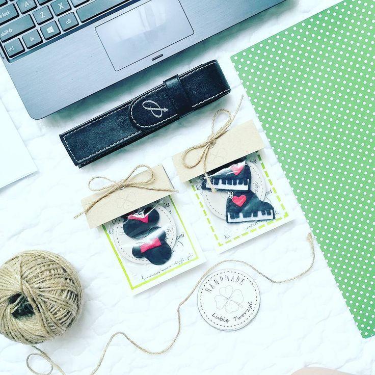 Kolczyki filcowe w kształcie myszki Minnie i fortepianu ;)  #kolczyki #earrings #kolczyk #earring #filc #felt #craft #crafts #feltcraft #feltcrafts #lubietworzyc #diy #zróbtosam #handmade #rękodzieło