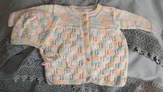 cardigan fille  6 mois sur Etsy.com/ca/fr/shop/TricotsDiahn
