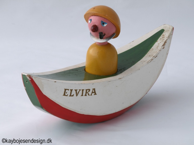 Kay Bojesen - The Elvira-boat with man