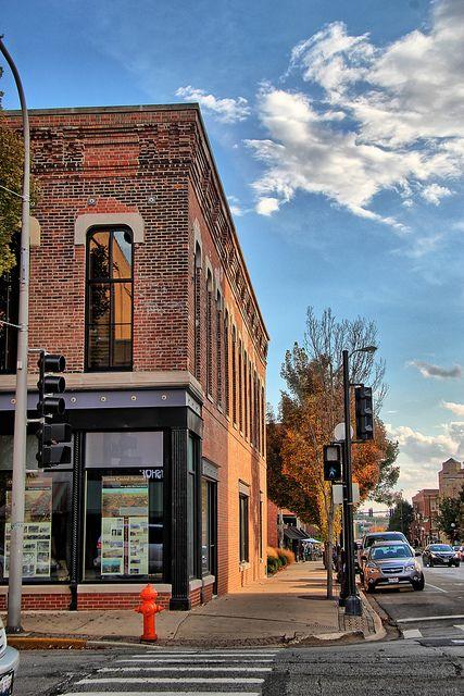 Near University of Illinois: Champaign Illinois Street Scene. Try out coffee shop, Espresso Royale.