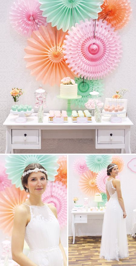 Everything about this dessert table is just perfect, from the color palette to each of the desserts. LOVE!